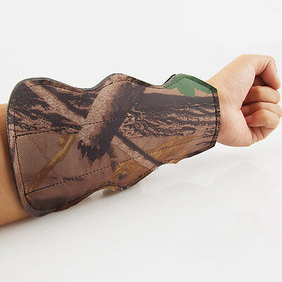 New Archery Arm Guard Camouflage Safety Hunting Training Protective Gear 3 Strap