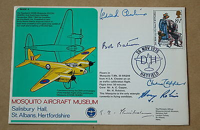 Mosquito Aircraft Museum 1975 Cover Signed Leonard Cheshire + Bateson & Chisholm