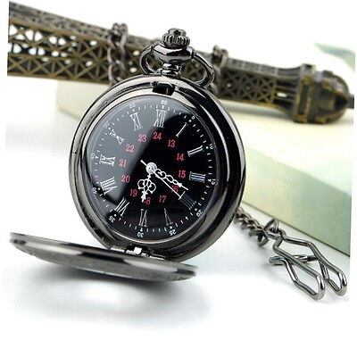 Unisex Steampunk Retro Vintage Chain Quartz Pocket Watch Roman Pattern LKAN