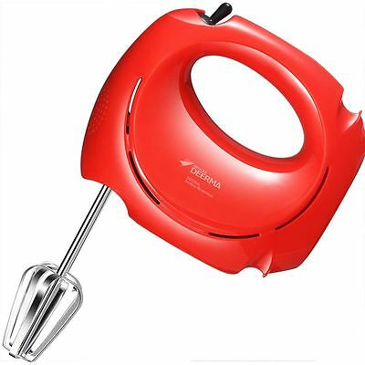 Deerma DEM-D02 Egg Beater Family Cooking Device Electric Whisk Blender Mixer Red