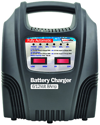 Streetwize SWBCLED8 8 Amp LED Fully Automatic Plastic Cased Battery Charger