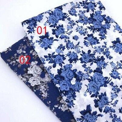 One PCS Cotton Fabric Pre-Cut Cotton cloth Fabric for Sewing Rose D77