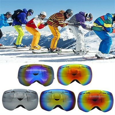 Men Women Large Spherical Mask Double Ski Windproof Goggles UV400 Anti Fog ZPCN