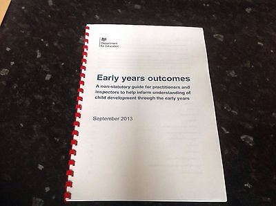 EYFS early years foundation stage Early Years Outcomes printed bound hard copy