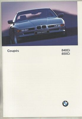 1997 BMW 840Ci 850Ci Coupe Prestige Brochure ww5370