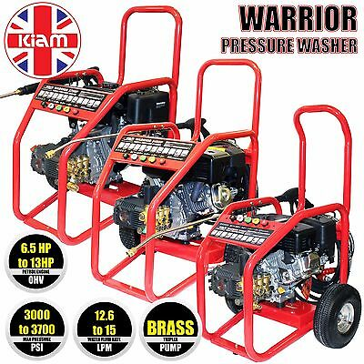 Kiam Warrior Petrol Pressure Washer High Power Jet Cleaner 3000 3400 3700 PSI