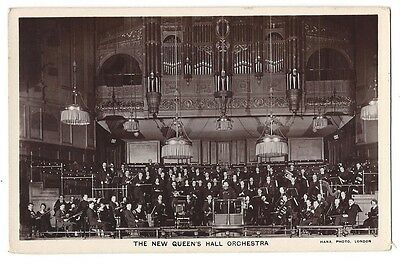 The Queen's Hall Orchestra, RP Postcard by Hana, Unused