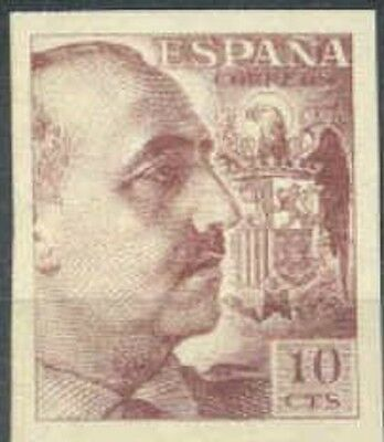 Spain España Edifil # 888 ** MNH Franco sin dentar borde superior de hoja