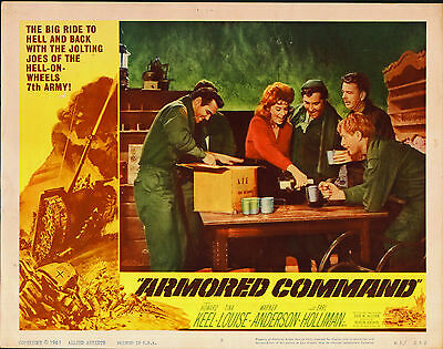 ARMORED COMMAND/7TH ARMY orig lobby card movie poster TINA LOUISE/BURT REYNOLDS