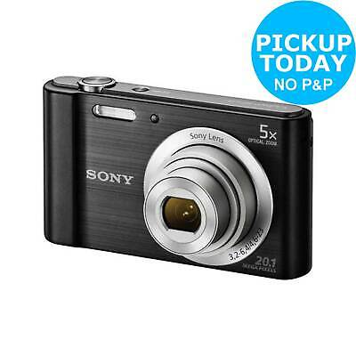 Sony Cybershot W800 2.7 Inch 20MP 720p HD 5x Zoom Compact Digital Camera Black
