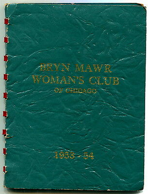 """1950s Booklet: """"60th Anniversary - BRYN MAWR WOMAN'S CLUB OF CHICAGO - 1953-54"""""""