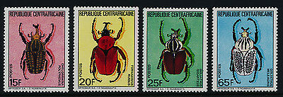 Central Africa 706-9 MNH Beetles, Insects