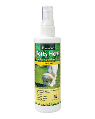 NaturVet POTTY HERE Training Aid Dog and Puppy Outdoor/Indoor Spray 8 oz