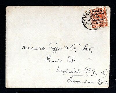 13753-IRELAND-OLD COVER CAVANT to LONDON (england).1922.WWII.Irlande.EIRE.