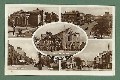 1947 Multi-View Rp Pc Dundalk - Court House, Park St, Church St, Clanbrassil St