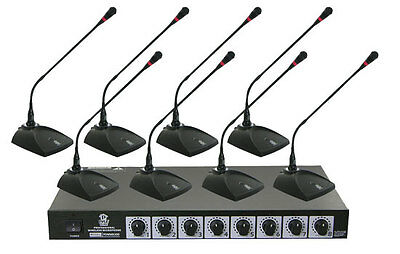 New PDWM8300 8Ch. Professional conference Desktop VHF Wireless Microphone System