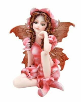 "Miniature Garden Pink Periwinkle Fairy Figurine Fae Meadows Collectible 3""H"