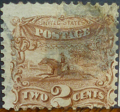 * * FREE SHIPPING! TWO 148-year-old US STAMPS: 1869 #113 & #114, CATALOGS $120+!