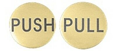 "Satin Brass 2"" Round Push/Pull Set - Etched Brass"