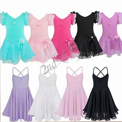 Girls Kid Tutu Ballet Leotard Dance Dress Ballerina Fairy Dancewear Costume Xmas
