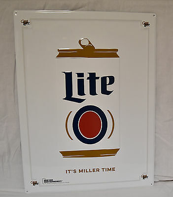 """Miller Lite Retro Can 18"""" X 24"""" Embossed Metal Sign New"""
