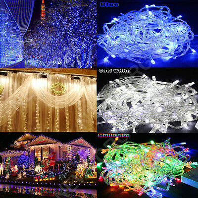 200 LED Outdoor Solar Powered String Light Garden Christmas Party Fairy Lamp 20M