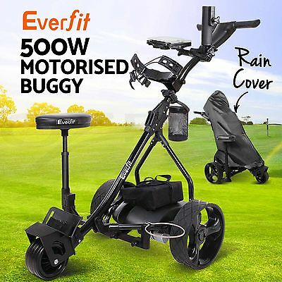 Everfit 500W Electric Golf Buggy Folding Trolley Caddy Motorised Battery