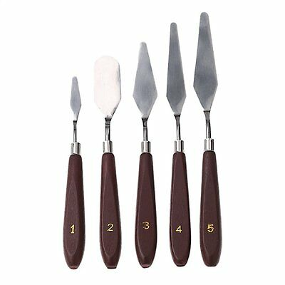 5pcs Stainless Steel Palette Knives and Spatulas Mixed Scraper Set Spatula Knive