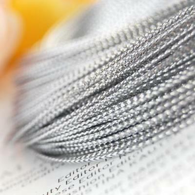 100 Yard Top Quality Silver String Metallic Cord Beading Necklace DIY Crafts