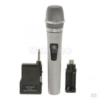 3x Pro FM Wireless Handheld Microphone Mic for Mall Promotion/Speech/Exhibition