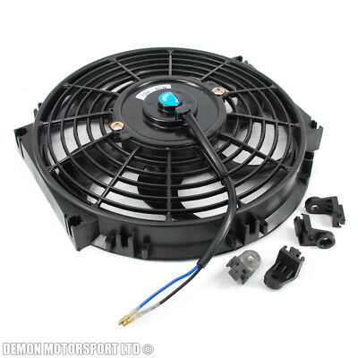 "10"" 10 Inch 12 Volt Slim Electric Cooling Fan Push Pull For Radiator Intercooler"