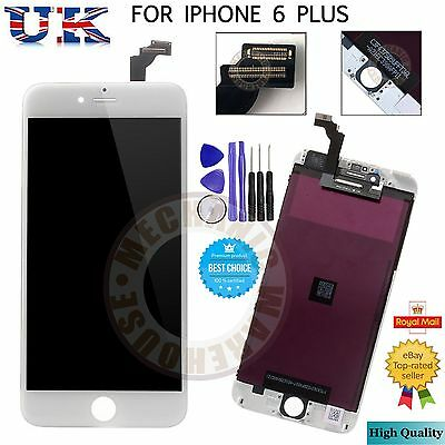 "For iPhone 6 Plus 5.5"" 6+ LCD White Touch Screen Display Digitizer Assembly UK"