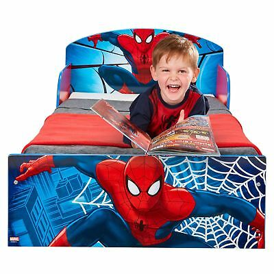 Spiderman Toddler Bed With Protective Side Guards & 3 Mattress Options Available
