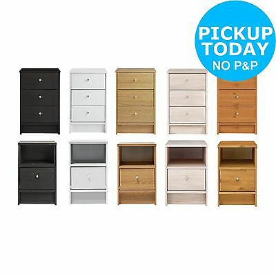 HOME New Malibu Bedside Chest of Drawers - Choice of Colour/1&3 Drawers
