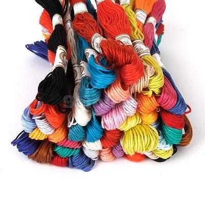 100 Mix Colors Cross Stitch Cotton Sewing Skeins Embroidery Thread Floss Kit
