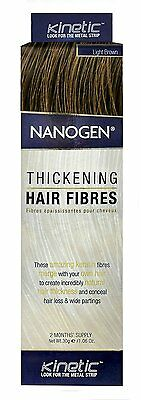 Nanogen Thickening Hair Fibres LIGHT BROWN 30g 2 months supply Natural Keratin