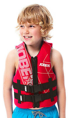Gilet enfant néoprène Neo Vest Youth Red - Norme CE ISO - Jobe 2017 - wake