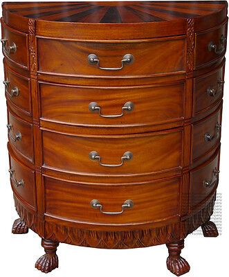 Sunburst Chest of Drawers - Mahogany - New