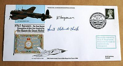 617 Dambusters Squadron 1988 Cover Signed By Hargreaves & Cleland-Smith
