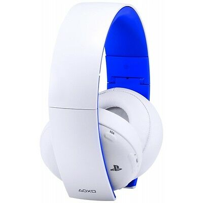 PS4 Official Sony PlayStation Gold Wireless Stereo Headset Glacier White