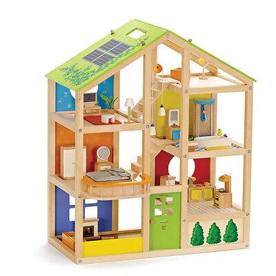 E3401 HAPE All Season Furnished Wooden Doll House [Happy Family] Children  3yrs+