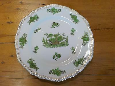 Copeland Spode Green Basket Design with Gold Edge Set Of 12 Fish Plates
