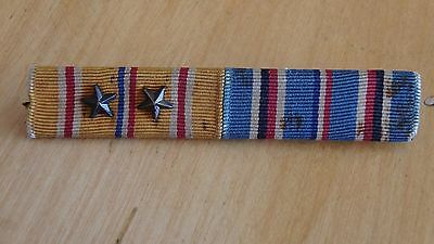 WWII US Asiatic-Pacific Campaign & American Campaign Medal Ribbon Bar