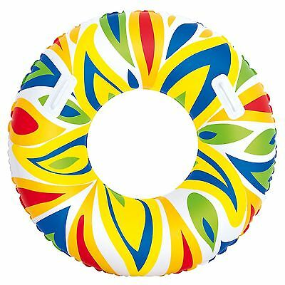 """42"""" Inch Inflatable Blow Up Swimming Paddling Pool Beach Tyre Lilo Float"""