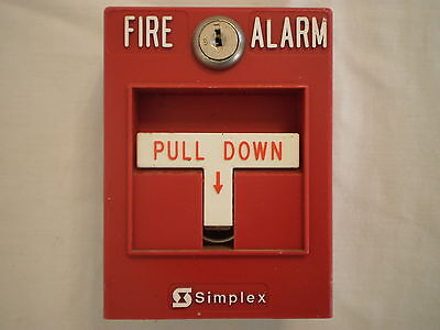 Simplex Timer Recorder Co. 2099-9795 Fire Alarm Pull Station