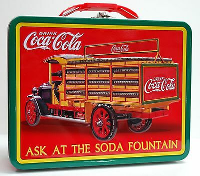 Coca-Cola (Coke) Tin Tote/Carry All - Ask at The Soda Fountain
