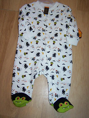 Infanr Size 3-6 Months Halloween Monster Bodysuit Footed Sleeper New NWT