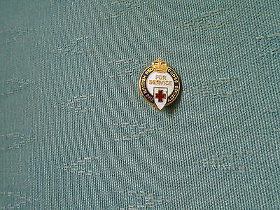 The British Red Cross - For Service - Enamel Pin Badge
