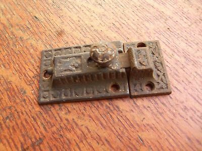 Antique Fancy Victorian Iron Cabinet Latch c1885 Primitive & Unrestored
