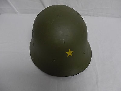 hj01 WW2 Japanese Japan Steel Helmet with liner & chin strap converted Swiss W8A